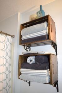 Crate Towel Storage