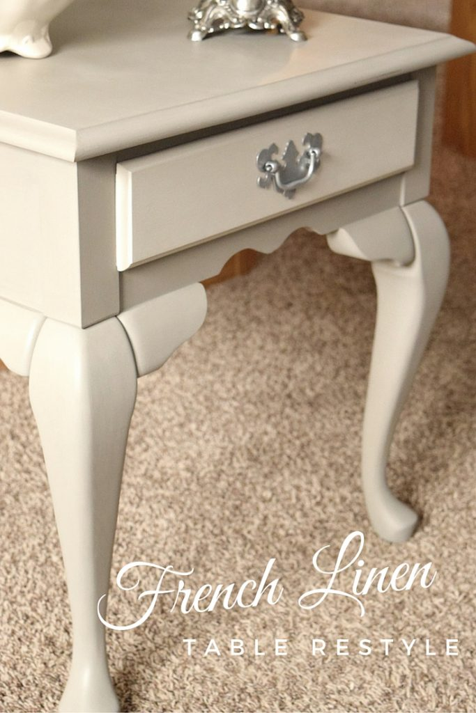 French Linen Table Restyle