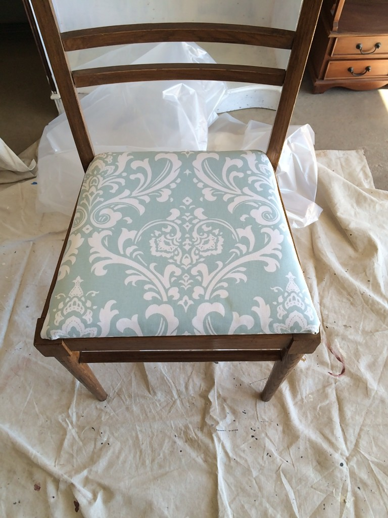 Painted Chair: Fabric choice