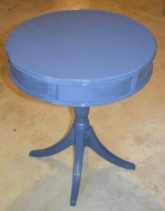 Drum Table: Painted