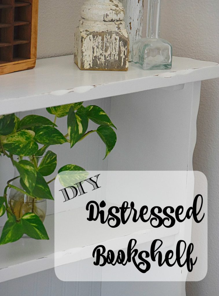 DIY Distressed Bookshelf