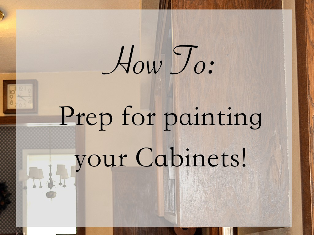 Painting Cabinets Prep