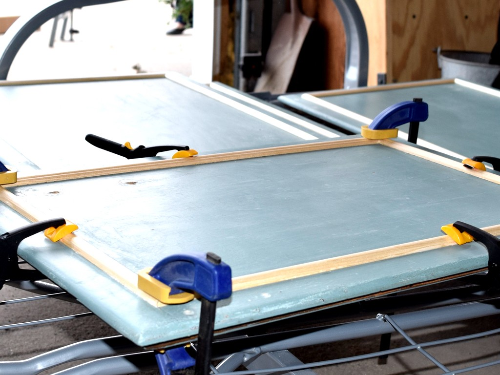 Molding-clamped
