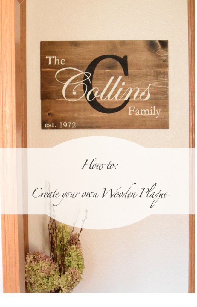 make your own wooden sign