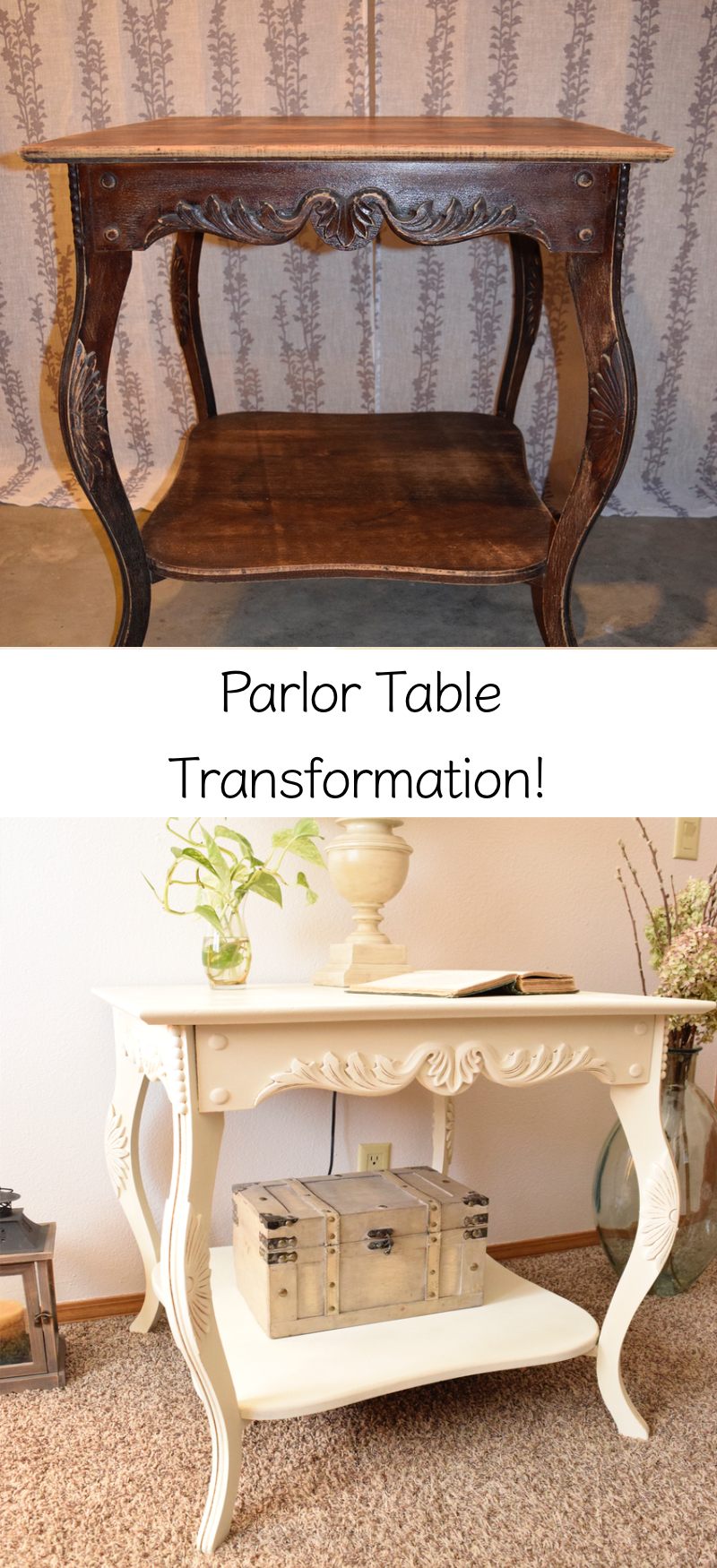 Ornate Parlor Table Makeover 1