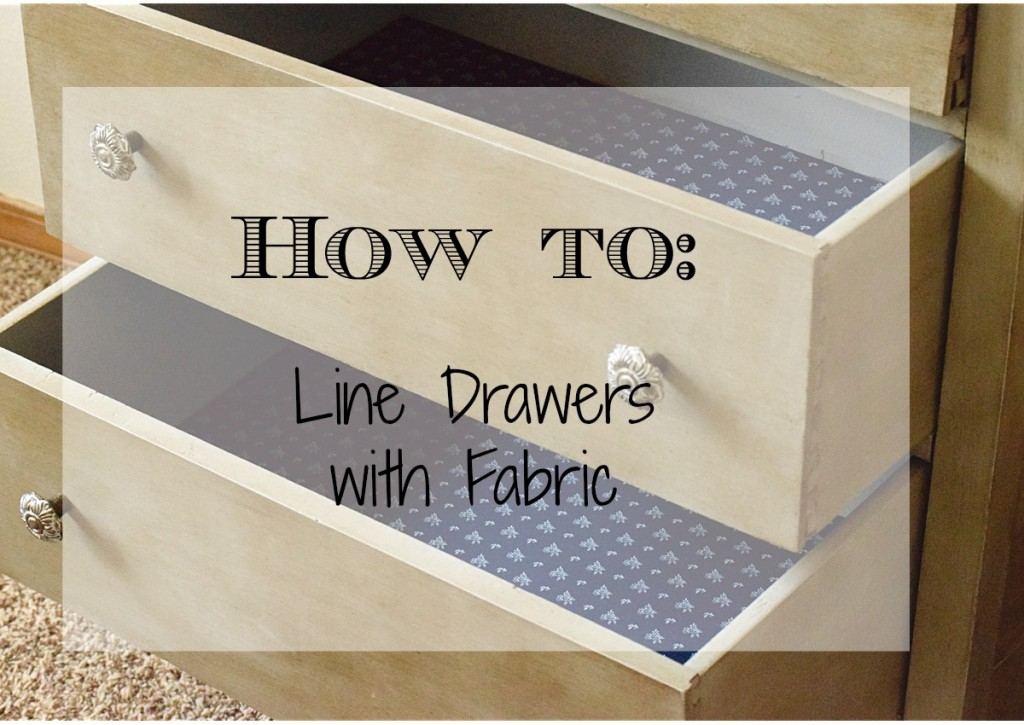 how to line drawers