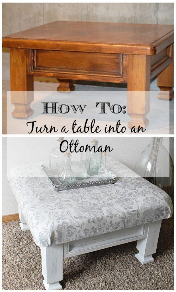 Table turned footstool