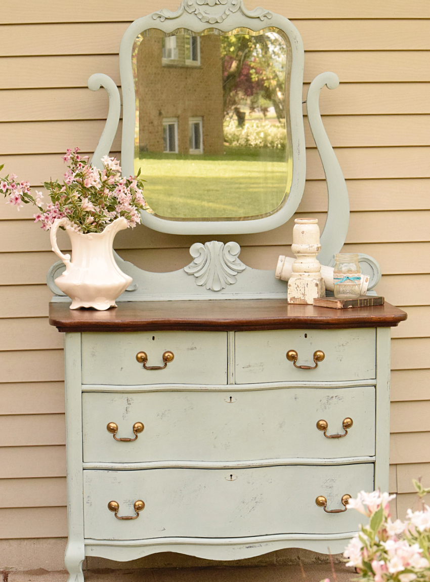 Curved Front Dresser Makeover Timeless Creations