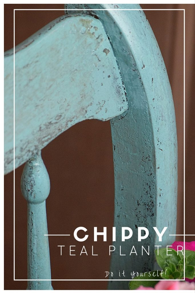 Chippy teal chair
