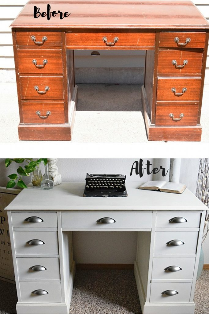 Brand new White Desk Restyle - Timeless Creations, LLC OQ49