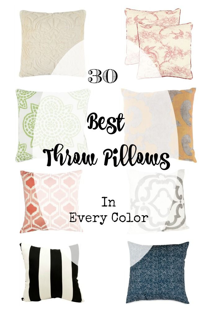 30 of the best Throw Pillows: In Every Color