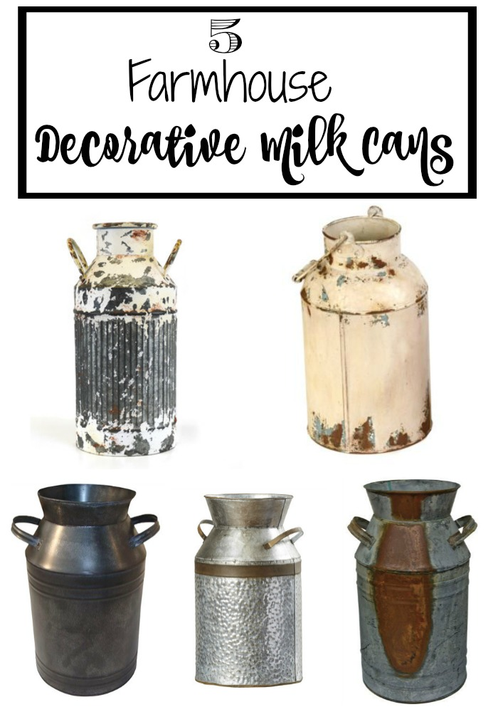 5 Decorative Milk Cans For The Farmhouse Look Timeless Creations