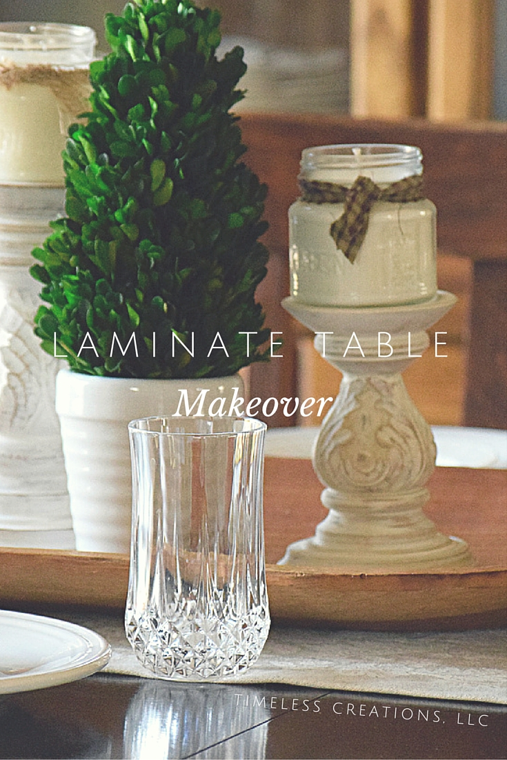 Stain a laminate-topped dining table. | Timeless Creations, LLC
