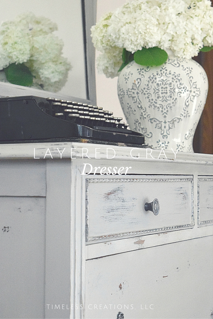 Layering Paint To Get A Multi Colored Distressed Look On Dresser Timeless Creations