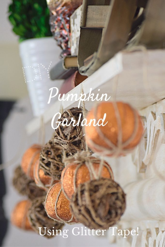 DIY a faux pumpkin garland using glitter tape! | Timeless Creations, LLC