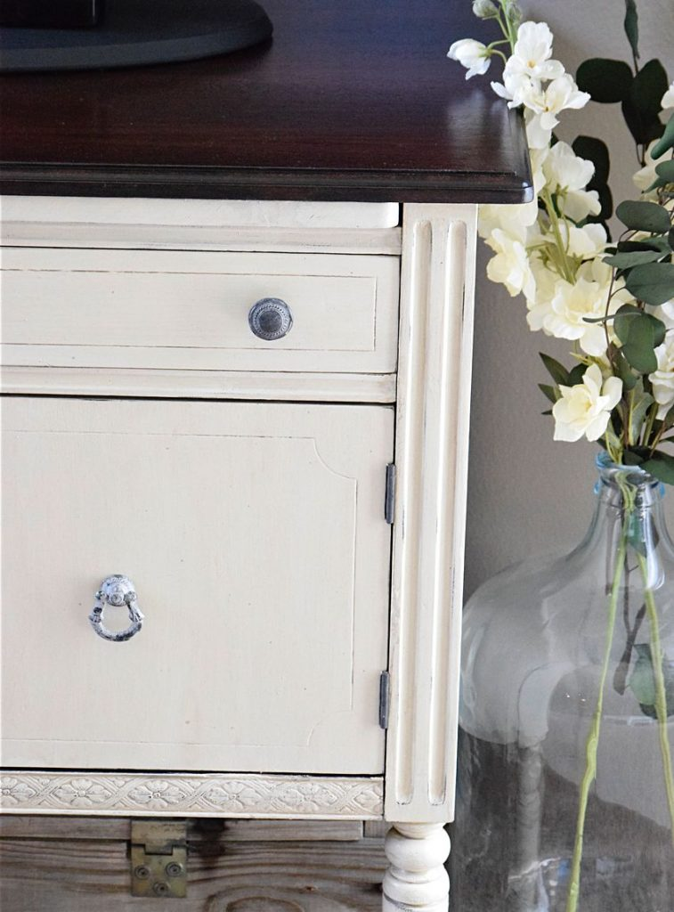 A Run-Down Sideboard turned Bright Beauty | Timeless Creations, LLC