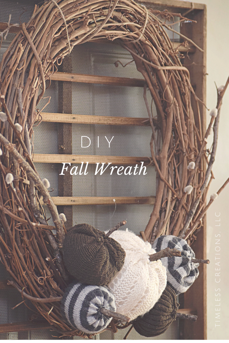 DIY Sweater Pumpkin Fall Wreath | Timeless Creations, LLC