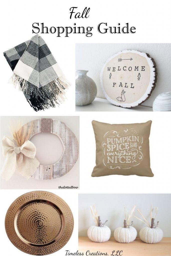 Fall Decor Shopping Guide: When your not a DIY'er | Timeless Creations, LLC