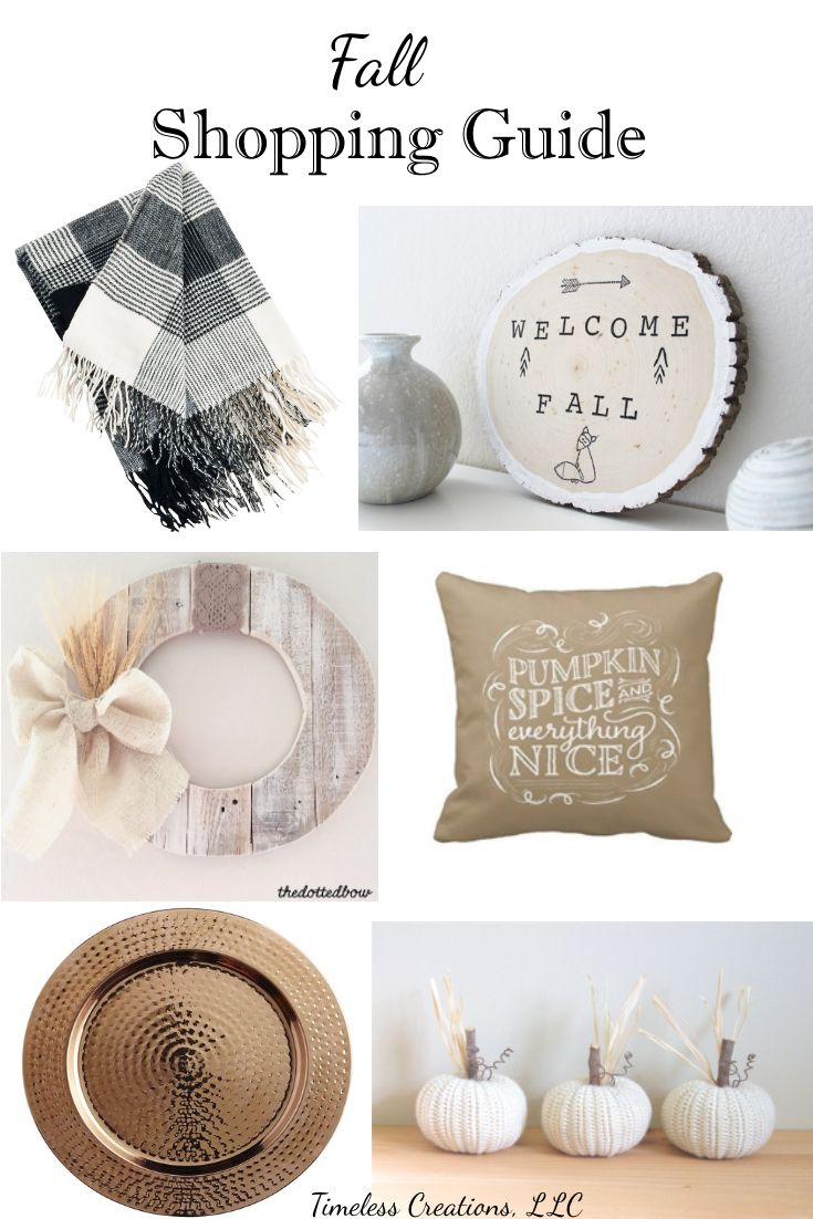 Fall Decor Shopping Guide: When your not a DIY'er | Timeless Creations, LLC
