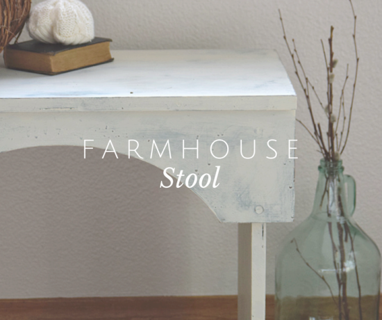 A Farmhouse Stool gets a Facelift + Fall Roundup 10