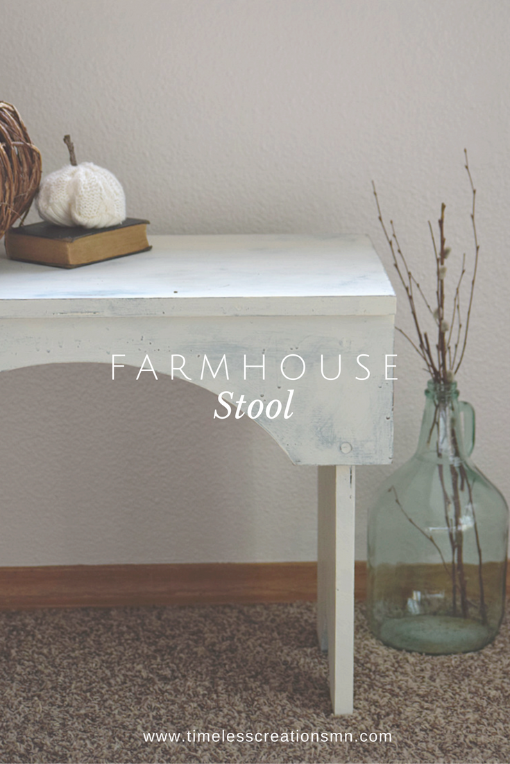 A Farmhouse Stool gets a Facelift + Fall Roundup 1