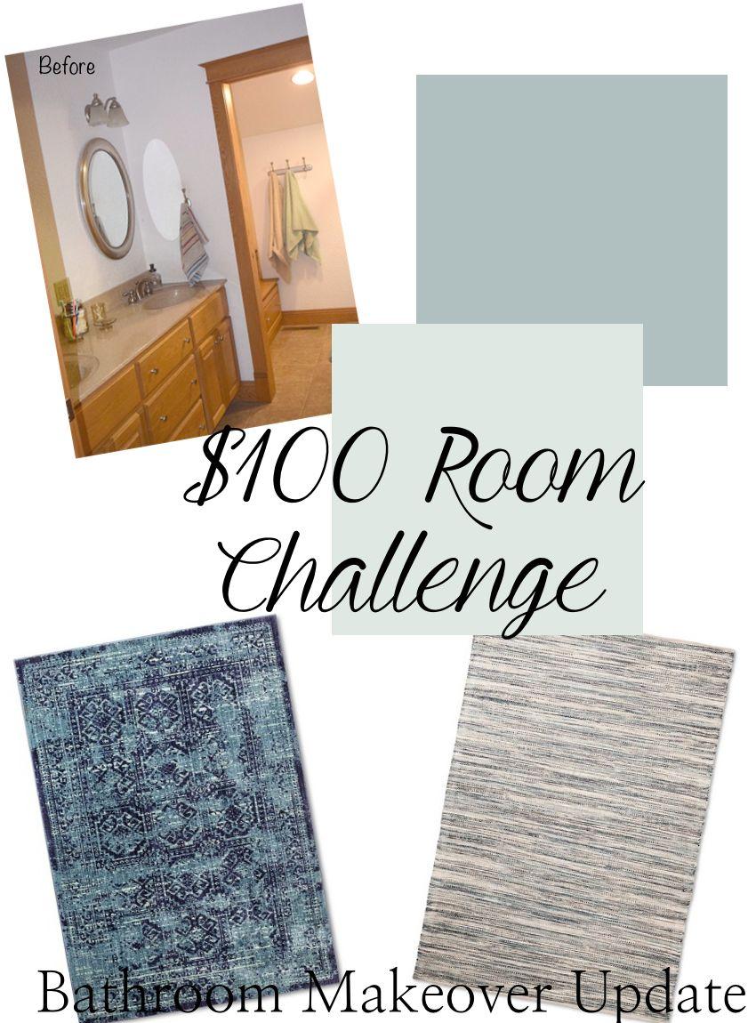 $100 Room Challenge-Bathroom Makeover Update