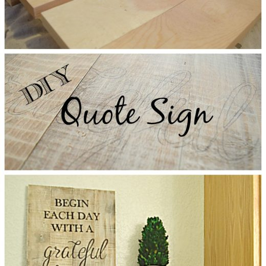 Make your favorite quote into a sign with this easy DIY
