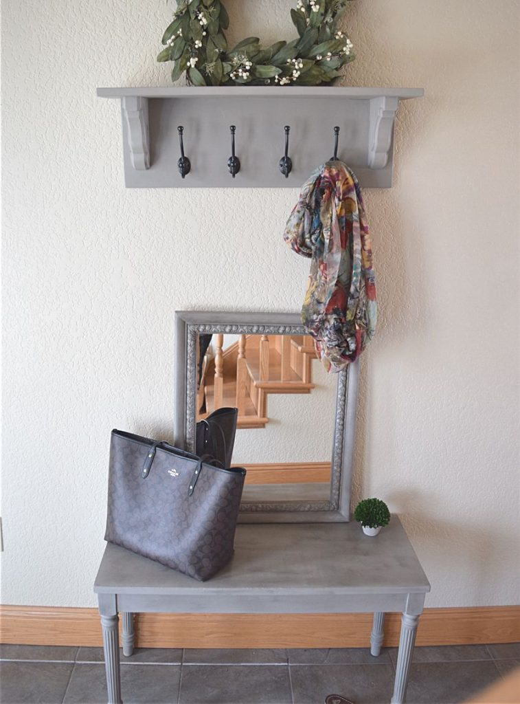 Matching Entryway Decor: Bench, Shelf, and Mirror 5