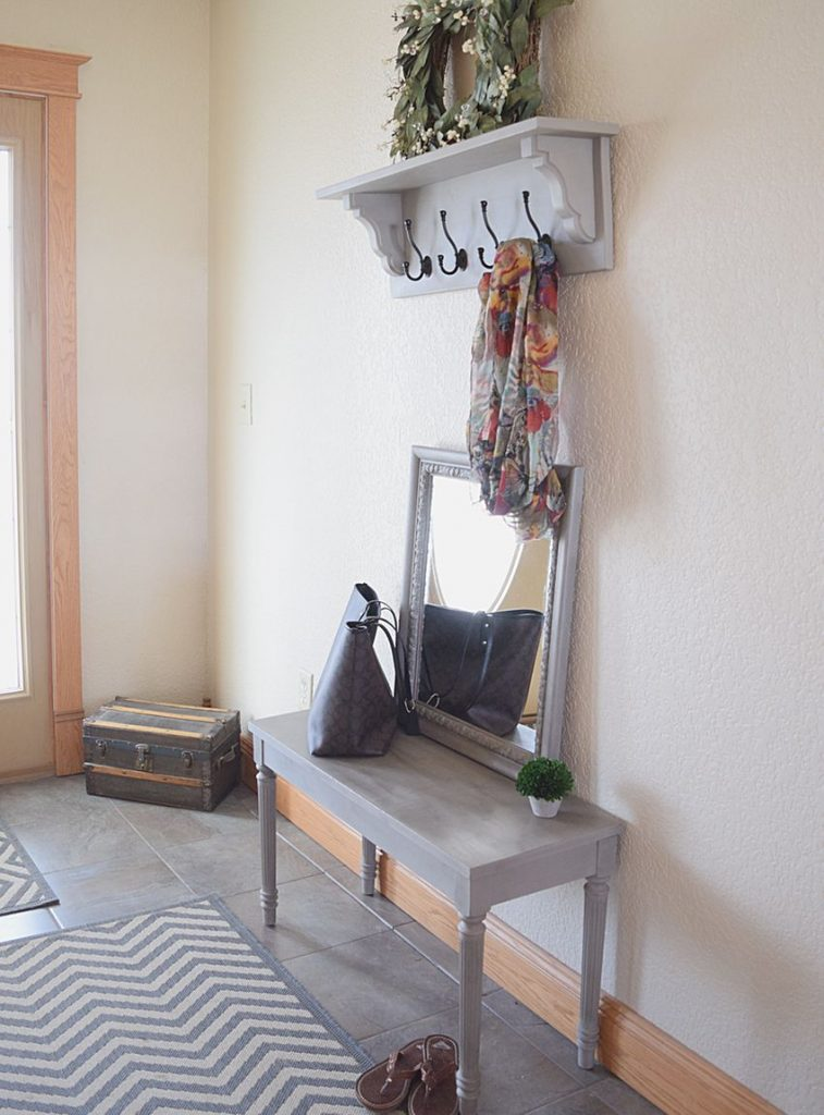 Matching Entryway Decor: Bench, Shelf, and Mirror 8