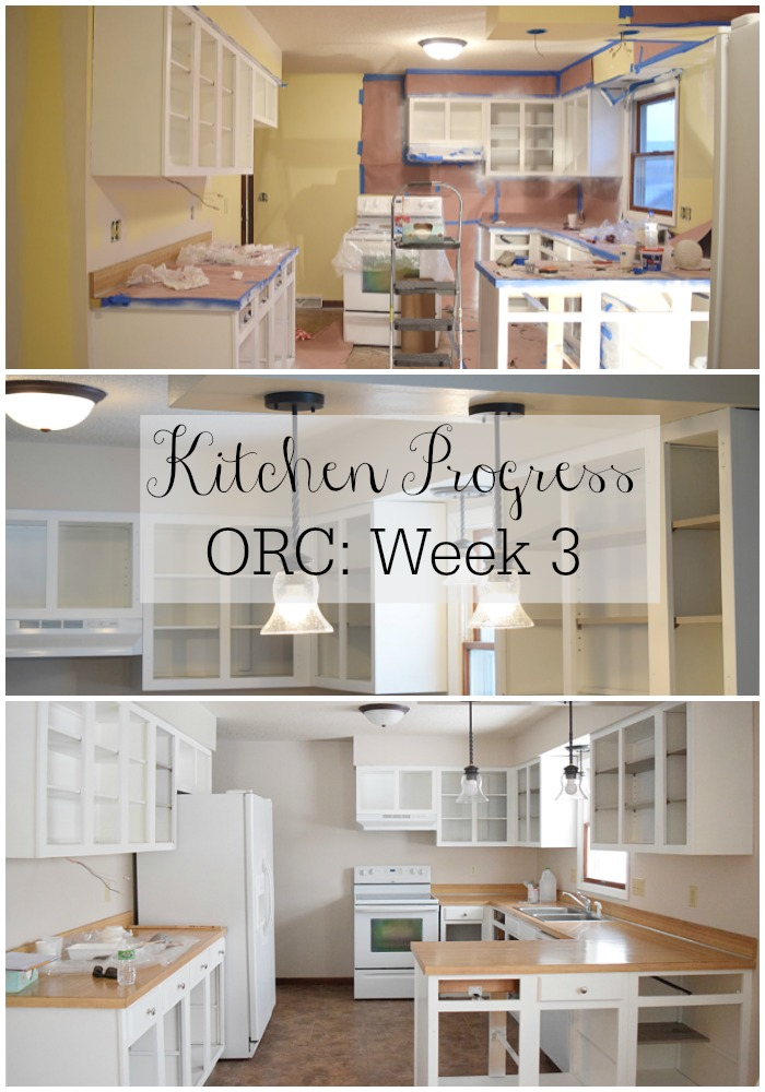 Kitchen Progress: ORC Week 3