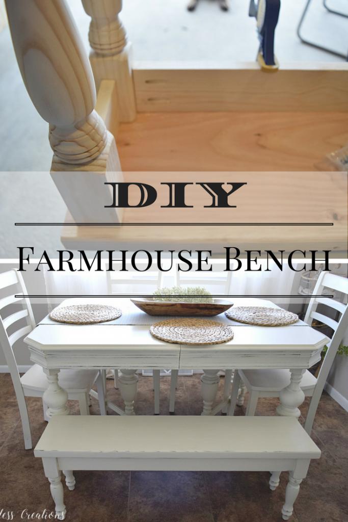 DIY Farmhouse Kitchen Bench 15