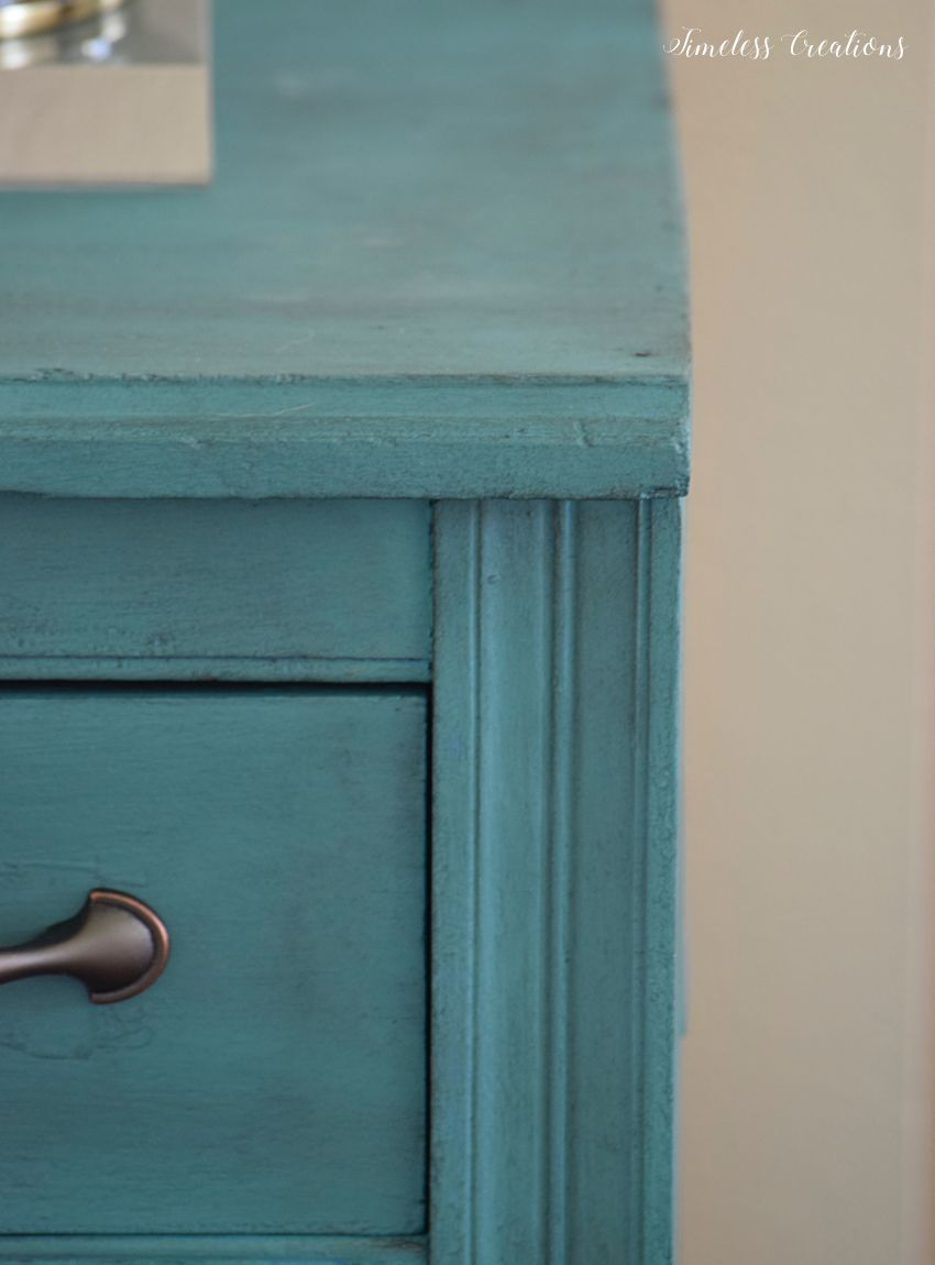 Teal Cabinet Makeover - Timeless Creations