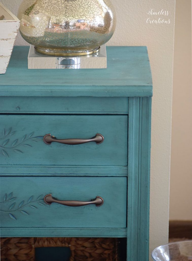 New Teal Entryway Cabinet 8