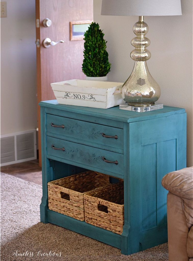 New Teal Entryway Cabinet 7
