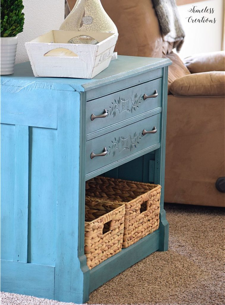 New Teal Entryway Cabinet 9
