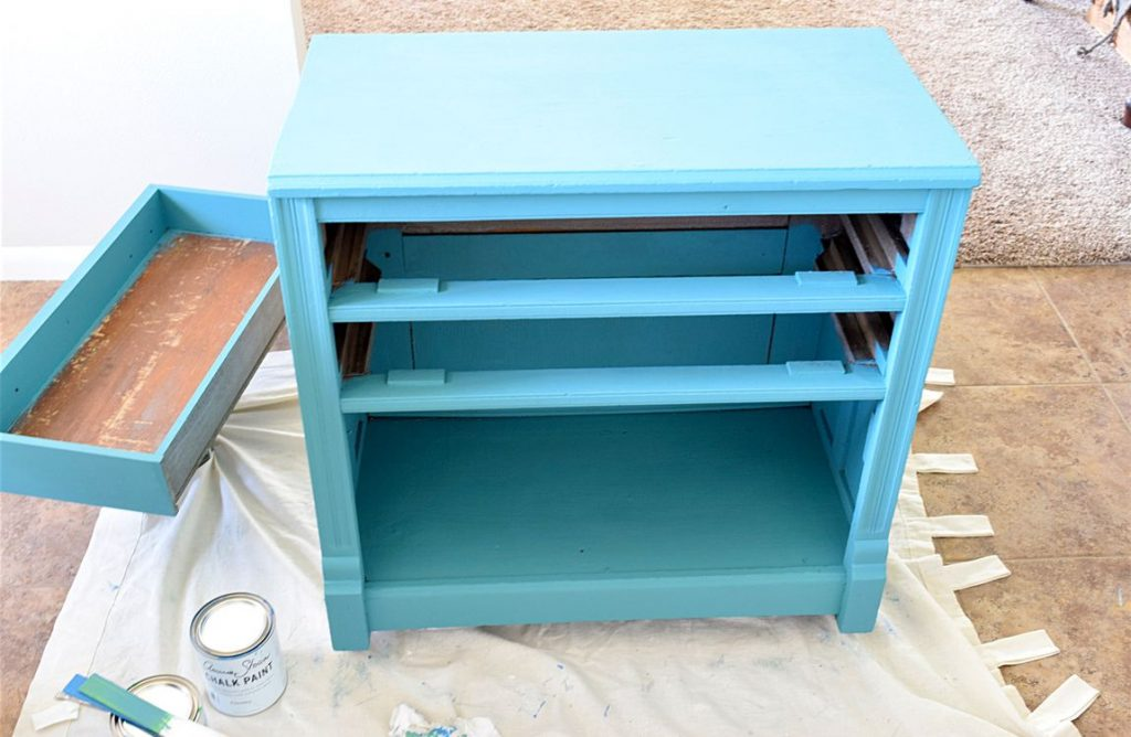 New Teal Entryway Cabinet 4
