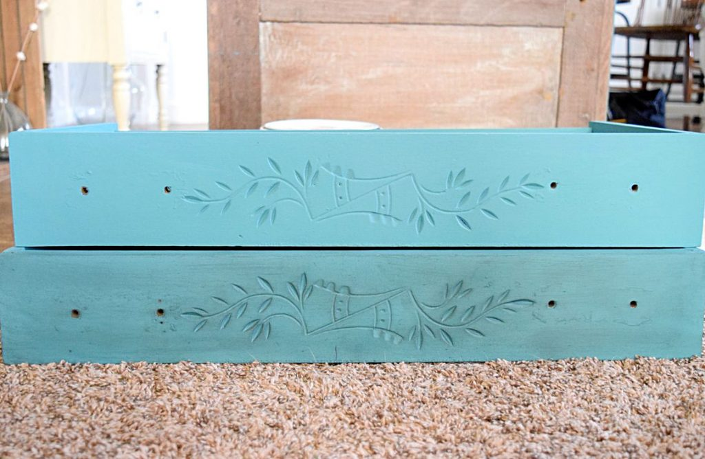 New Teal Entryway Cabinet 6