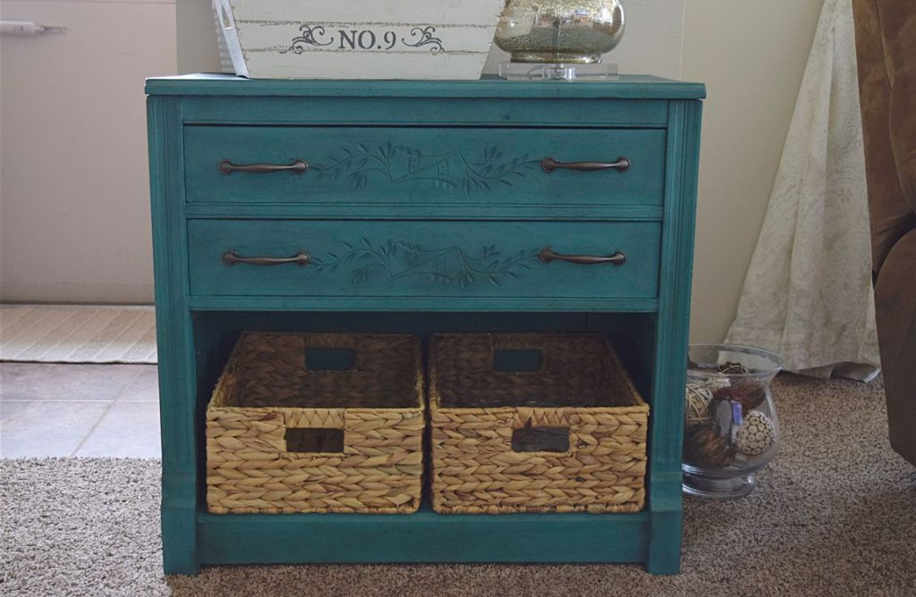 New Teal Entryway Cabinet 12