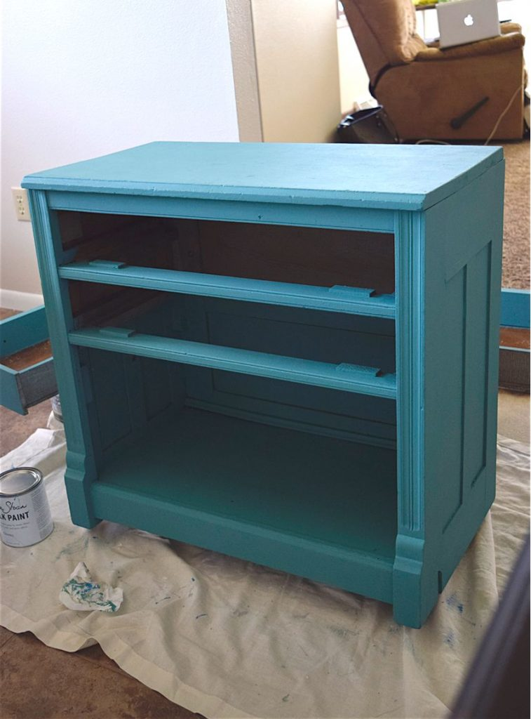 New Teal Entryway Cabinet 5
