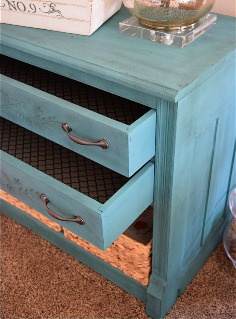 New Teal Entryway Cabinet 11