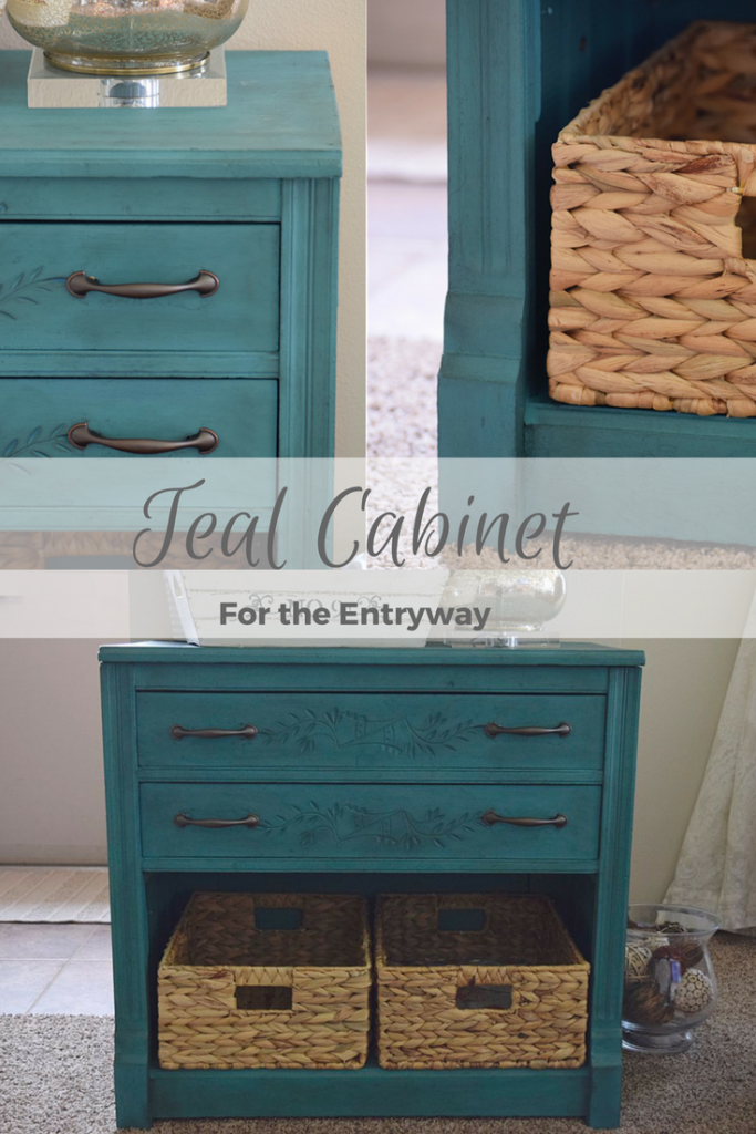 New Teal Entryway Cabinet 15