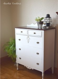 DIY Curved Pediment on Small Washstand 18