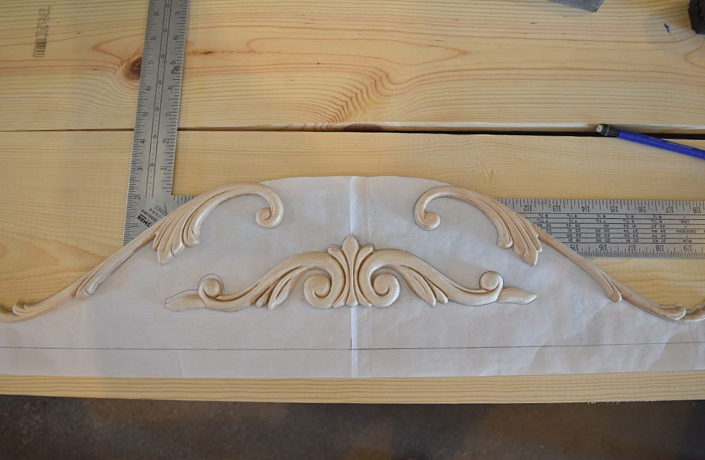 DIY Curved Pediment on Small Washstand 3