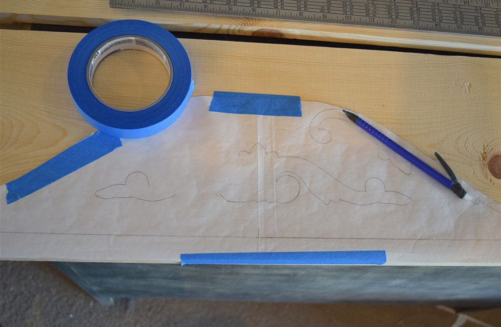 DIY Curved Pediment on Small Washstand 5