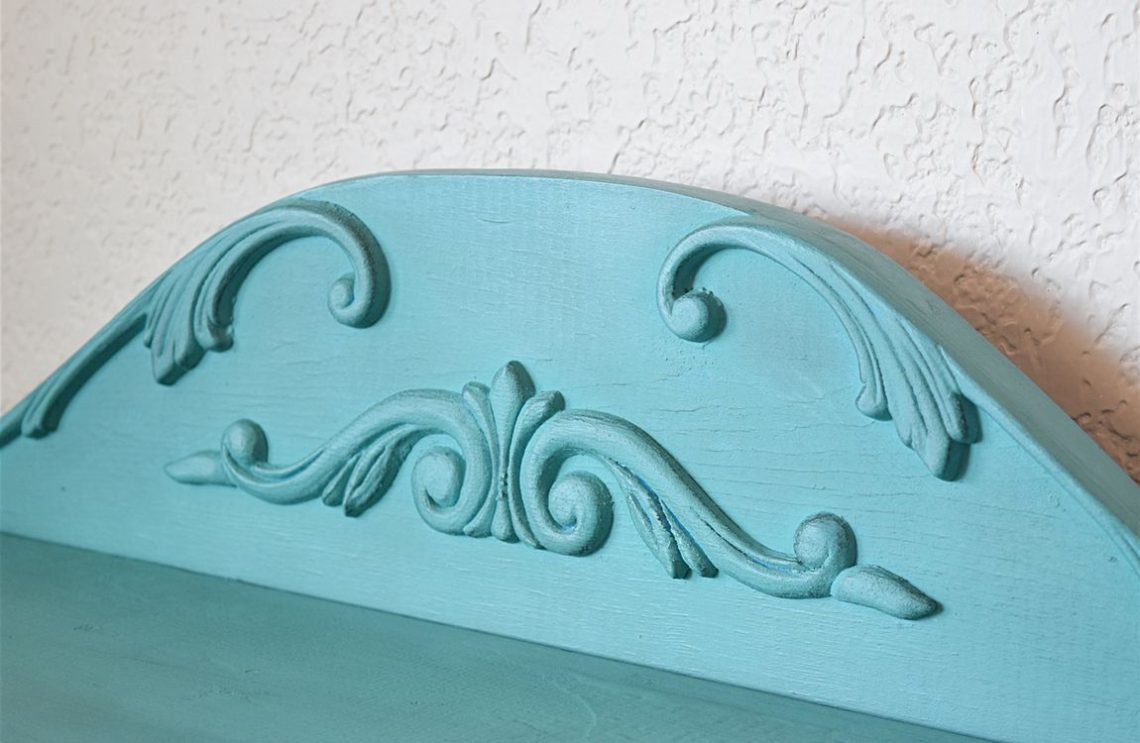 DIY Curved Pediment on Small Washstand 1