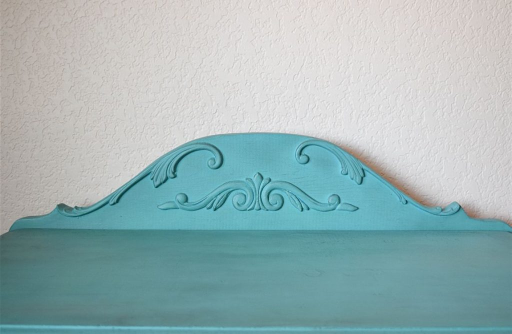 DIY Curved Pediment on Small Washstand 9