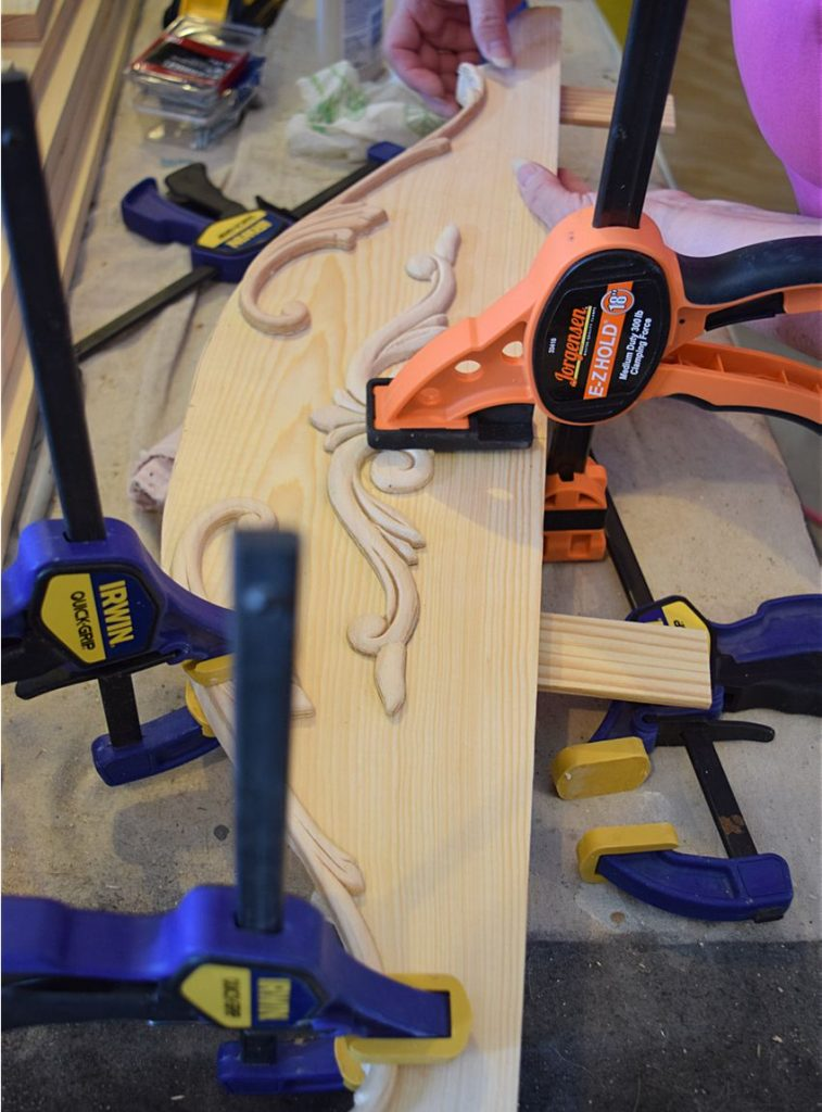 DIY Curved Pediment on Small Washstand 7