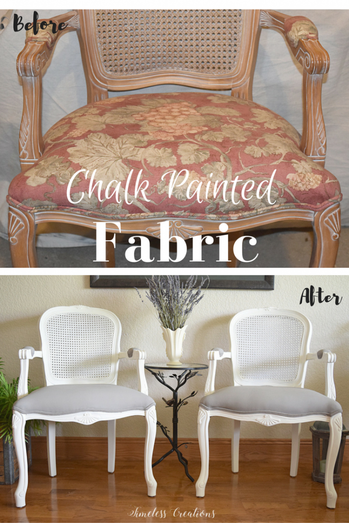 French Style Chair makeover - $100 Room Challenge