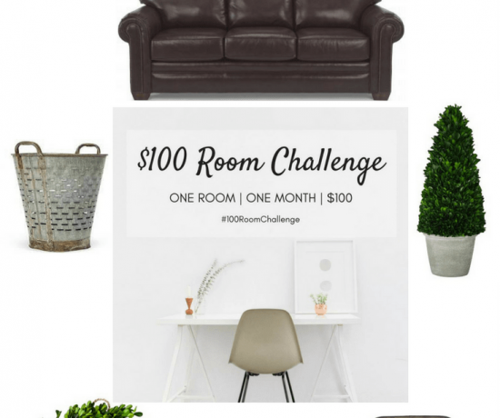 Family Room Restyle: $100 Room Challenge 13