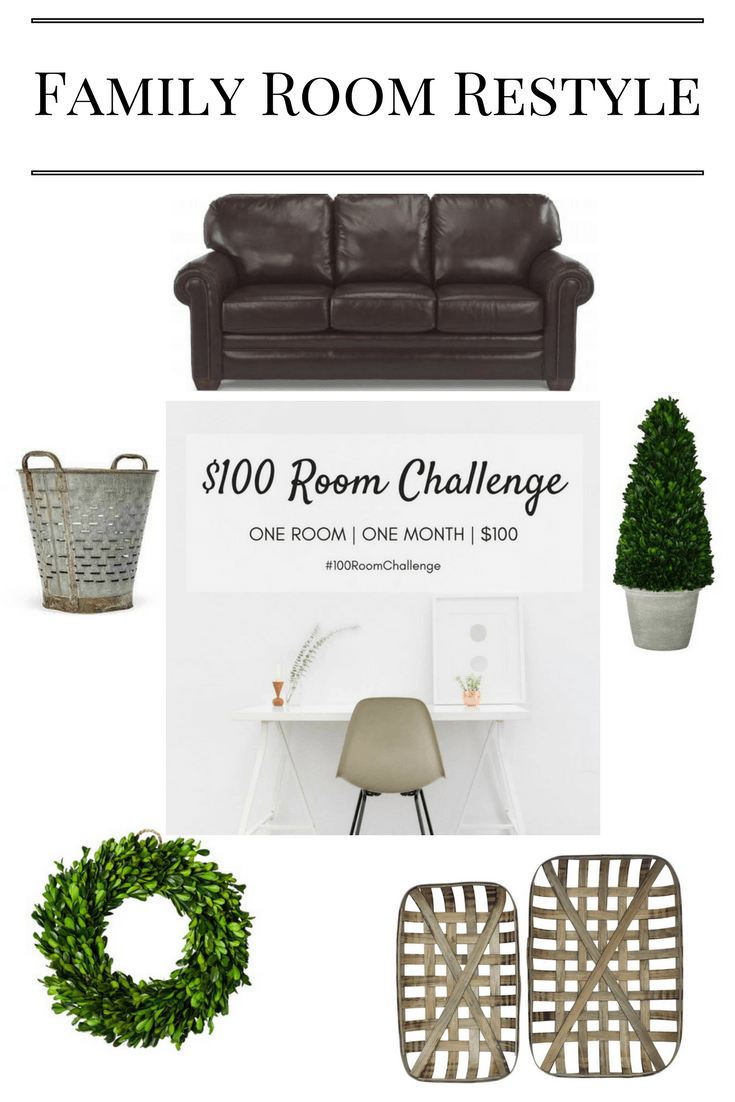 Family Room Restyle: $100 Room Challenge 1